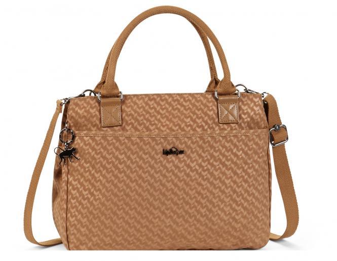 Basic Plus Handtasche Camel Emb