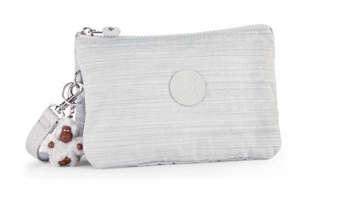 XL Extragroße Clutch mit Trageschlaufe Dazz Grey