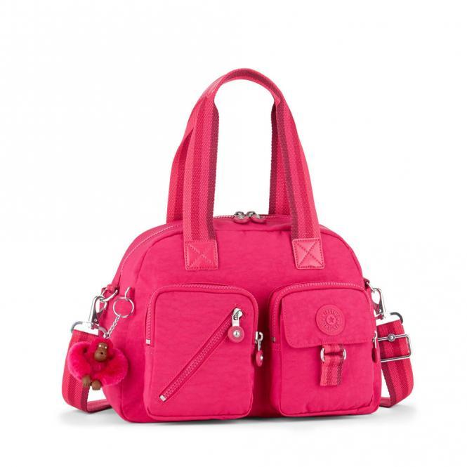 Basic Mittelgroße Schultertasche Cherry Pink C