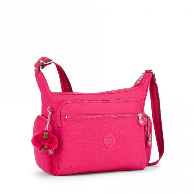 Mittelgroße Schultertasche Cherry Pink C
