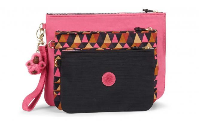 3er Set Taschen Carmine Pink