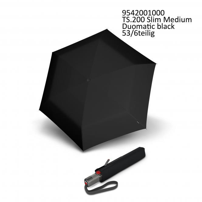Automatischer schmaler Taschenschirm black