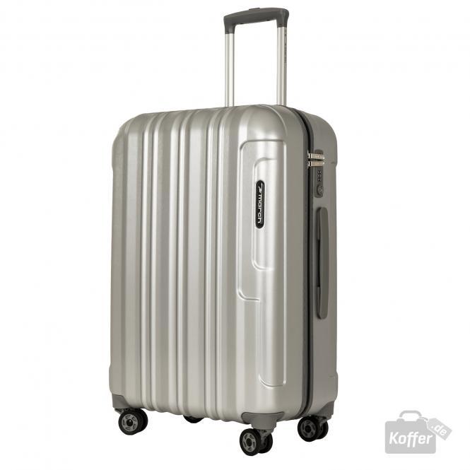 Trolley M 4w silver brushed alu look
