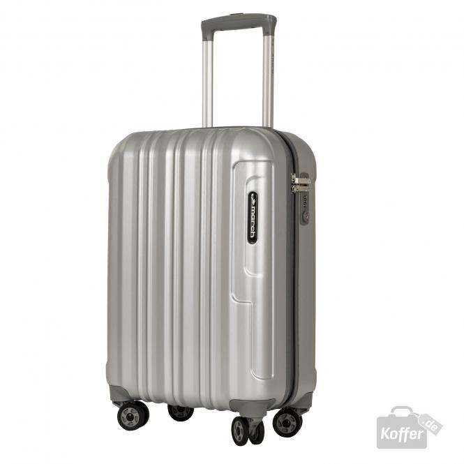 Trolley S 4w silver brushed alu look