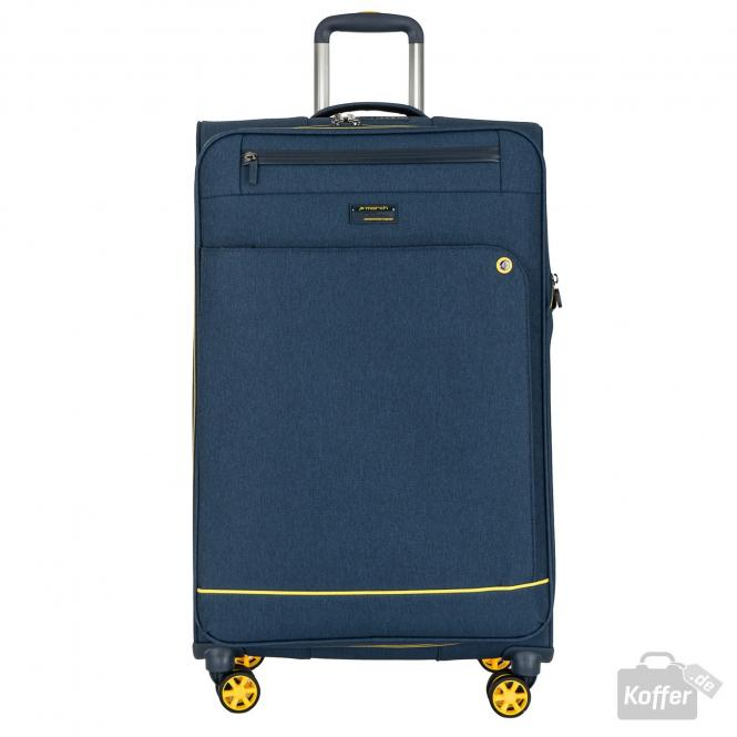 Trolley L 4w erweiterbar navy/yellow