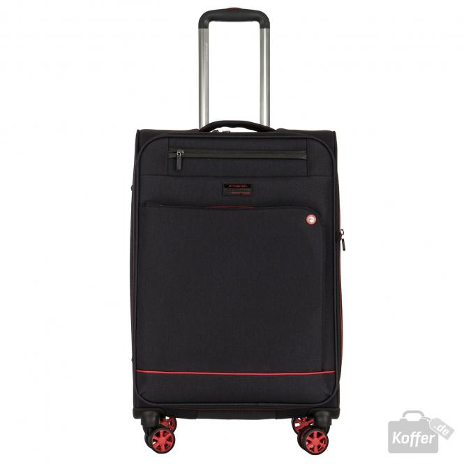 Trolley M 4w erweiterbar black/red