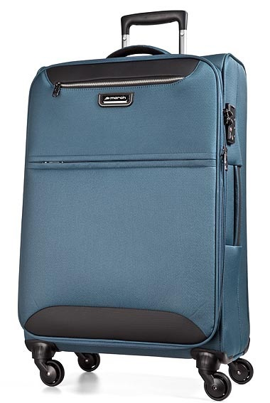 Trolley M 4W Expandable omega blue