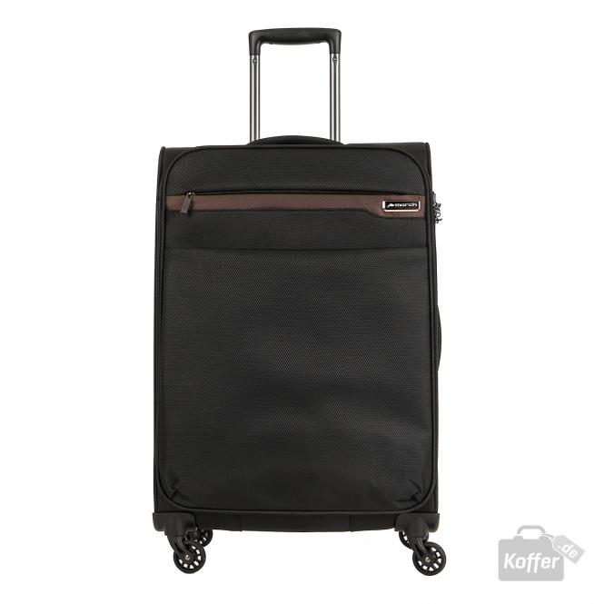 Trolley L 4W black/cognac