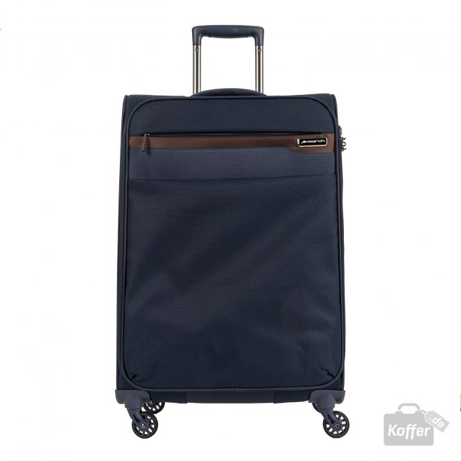 Trolley M 4W navy/cognac