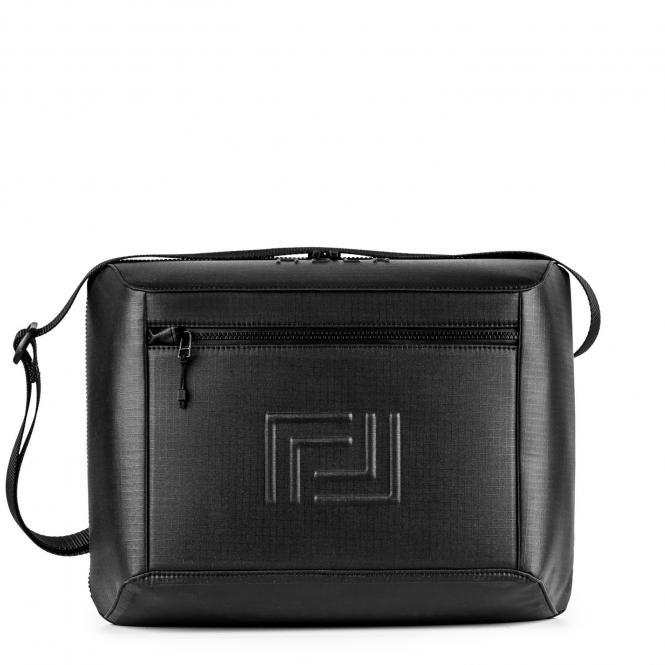 """Messenger Bag L 12"""" Black"""
