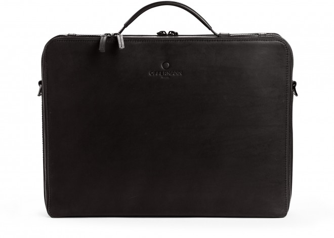 Businesstasche Men - Workbag L Fine Carbon Black
