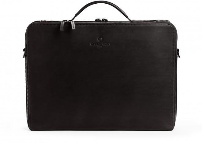 Businesstasche Men - Workbag L Fine Carbon Black