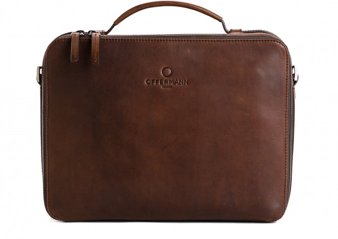 Businesstasche Men - Workbag S Solid Chestnut Brown