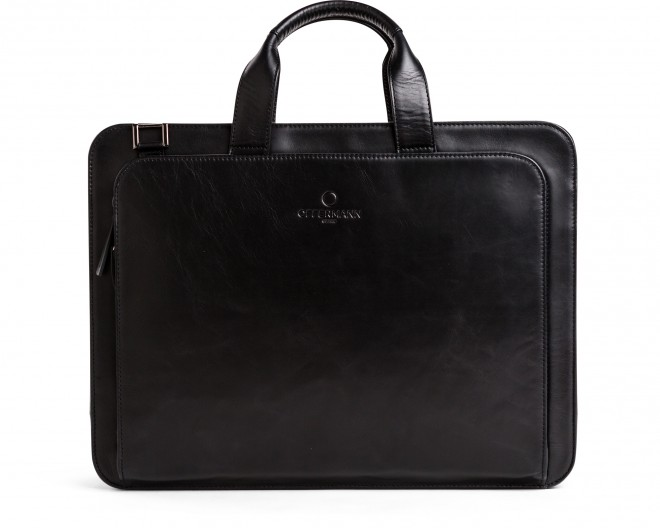 Businesstasche Men - Workbag 2 Handles Fine Carbon Black