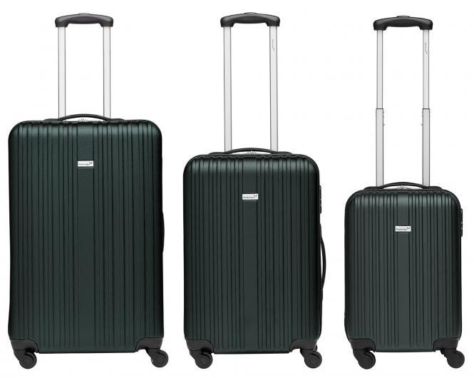 Koffer 3er-Set M, L + XL Dunkelgrün