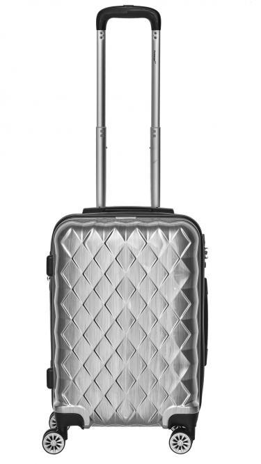 Trolley M 4R 52cm erweiterbar Silber