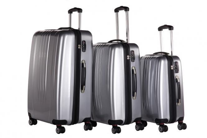 Koffer 3er-Set M, L + XL Silber