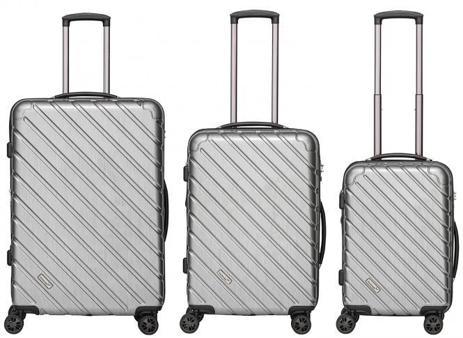 Koffer 3er-Set Silber Metallic
