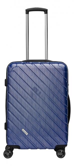 Premium Koffer L Blau Metallic