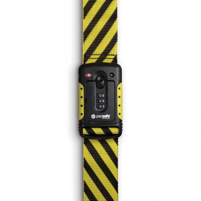 Gepäckband mit TSA-Schloss Yellow/Black