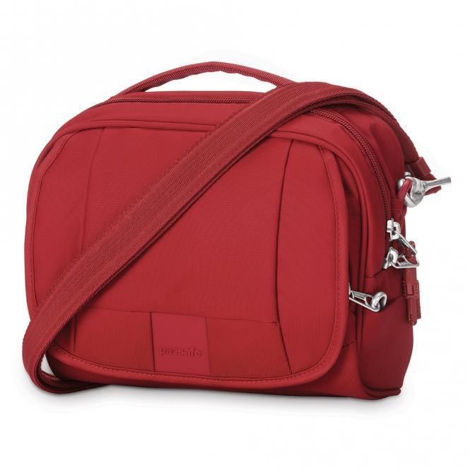 LS140 Anti-Diebstahl-Schultertasche Vintage Red
