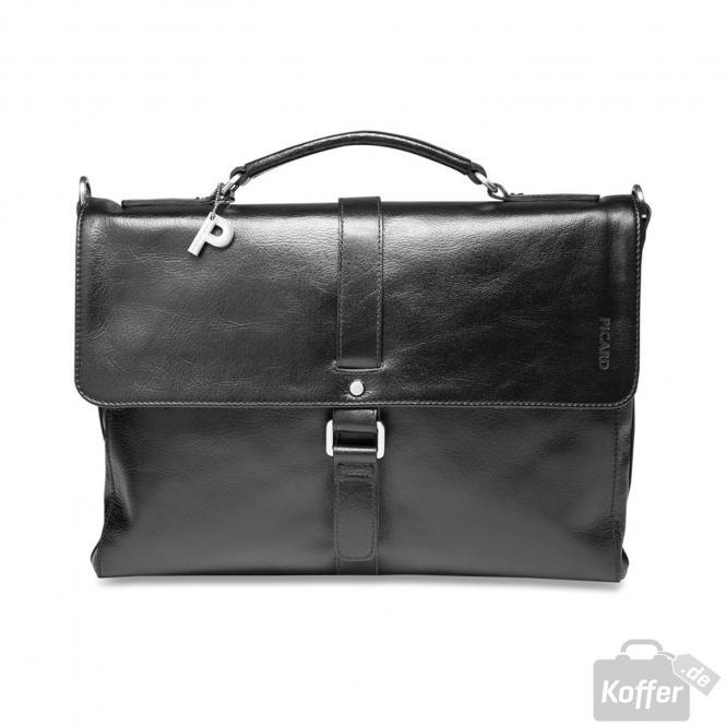 Männertasche Leder 29 cm schwarz