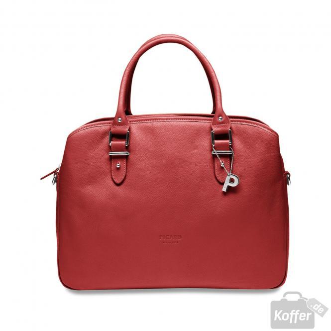 Damenshopper Leder 31cm Rot