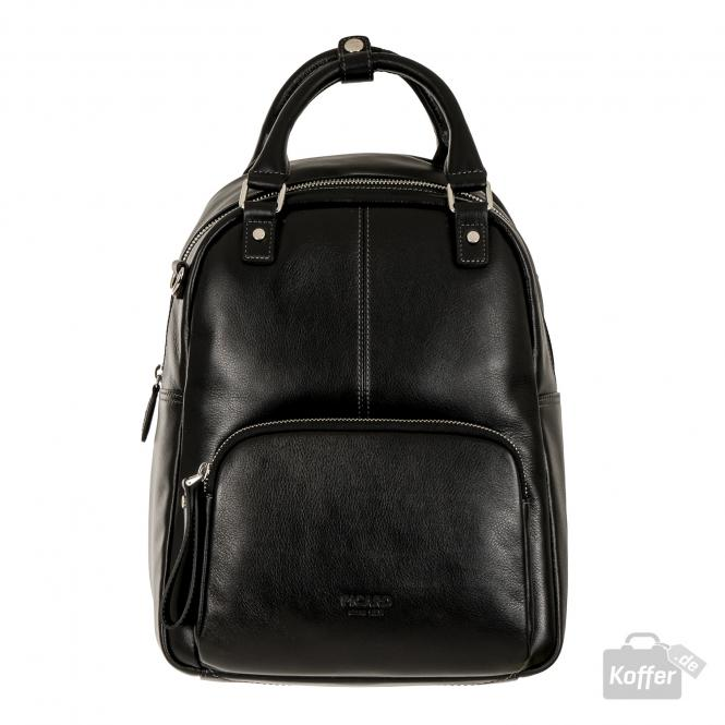 Rucksack aus Leder 9016 Schwarz