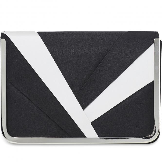 Damentasche 2513 Schwarz-Weiß-Kombi