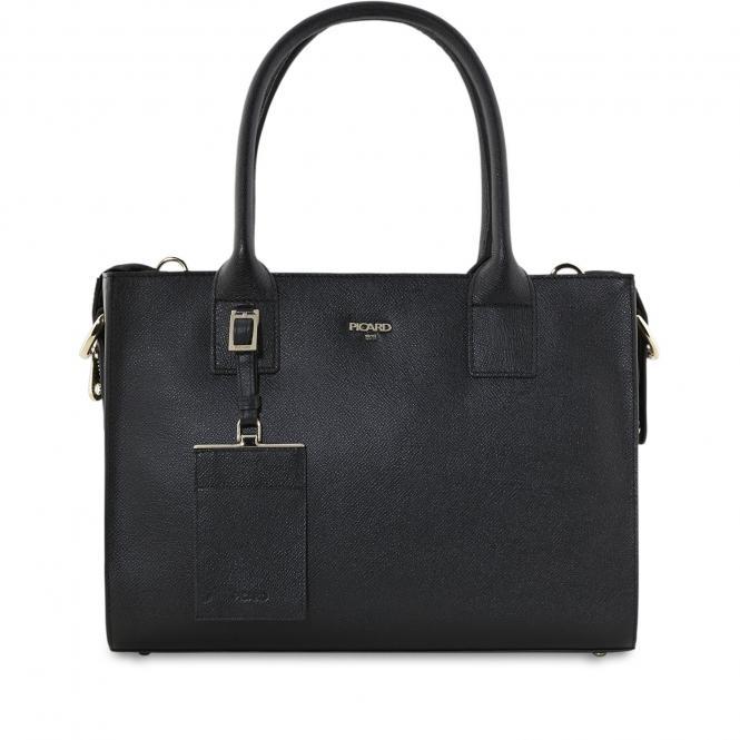 Damentasche Leder 8744 Schwarz