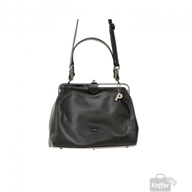Rindleder Damentasche 8295 Schwarz