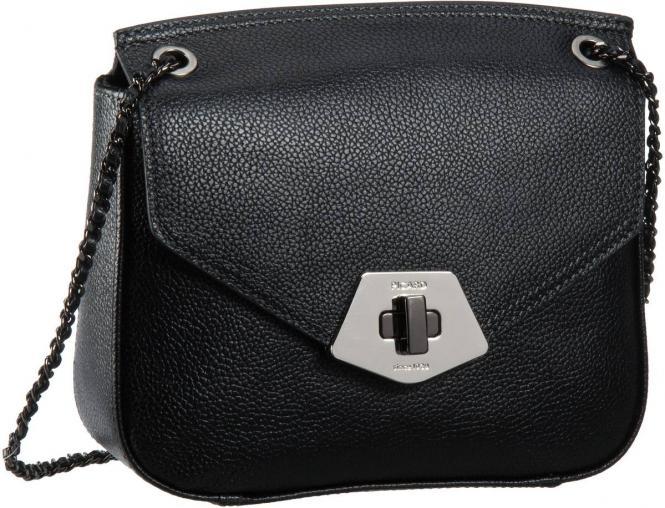 Rindleder Damentasche 8293 Schwarz