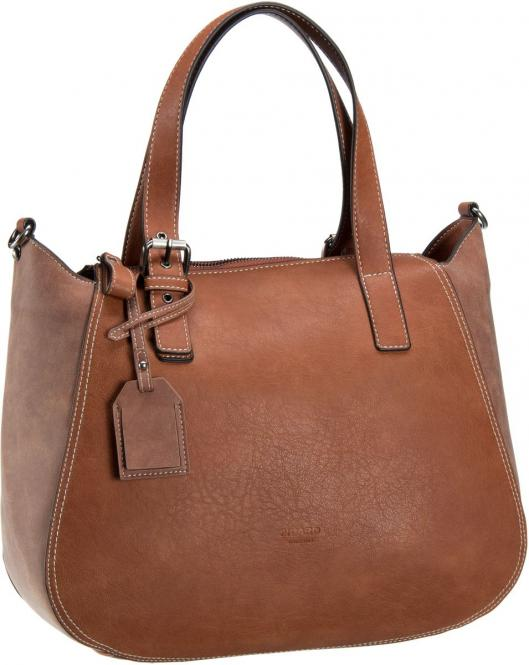 Damentasche 35 cm 2228 cognac