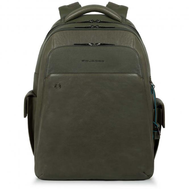 """Laptoprucksack 15"""" mit CONNEQU grün"""
