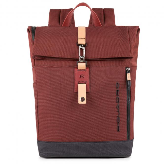 "Roll-Top Laptoprucksack 15.6"" rot"