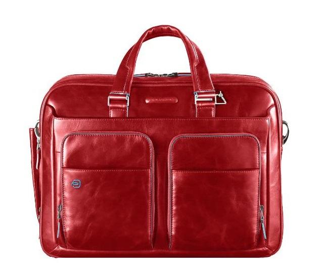 "Kurzgriff-Laptoptasche 14"" mit Tabletfach Rot"