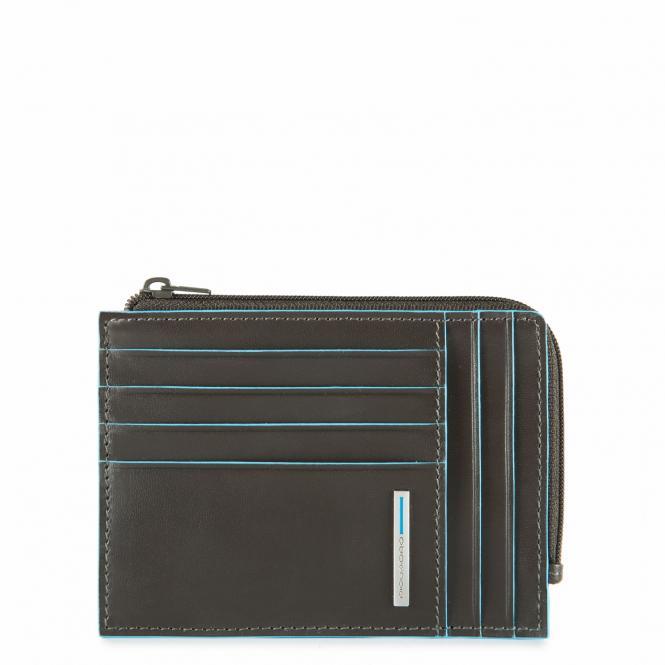 Börse mit Hartgeldfach, Dokumentenfach und Kreditkartensteckfächern mit RFID-Schutz Grau