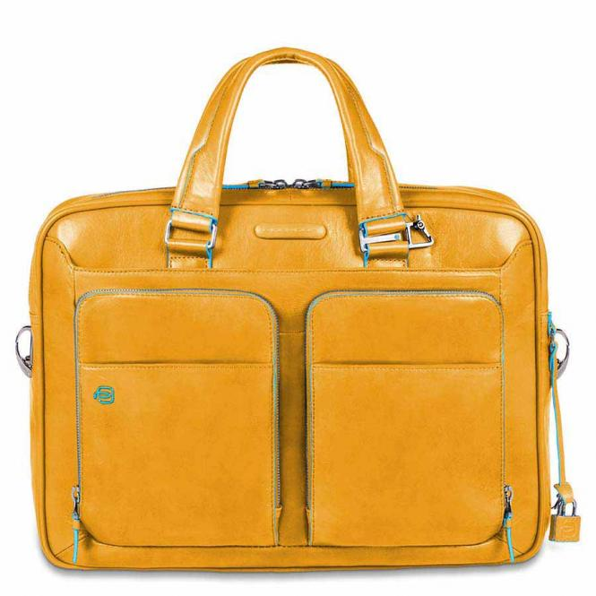 """Kurzgriff-Laptoptasche 14"""" mit Tabletfach Gelb"""