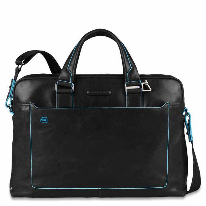 Kurzgriff-Laptoptasche mit iPad®Air/Air2-Fach, Schirm- und Flaschentasche Schwarz