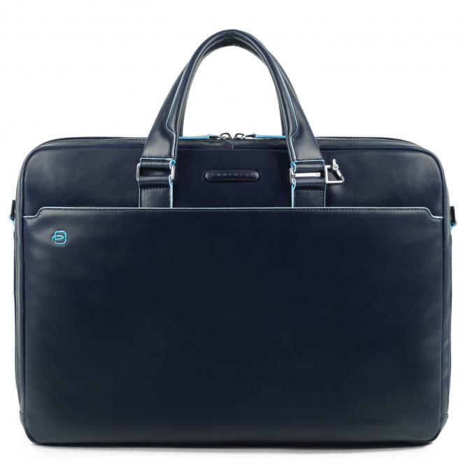 Laptoptasche mit zwei Fächern und Laptopfach nachtblau