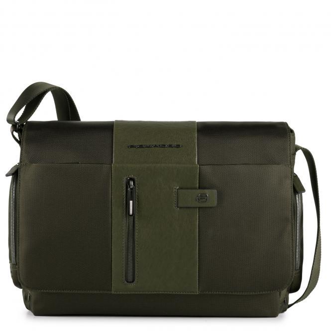 """Kuriertasche mit Laptopfach 14"""" mit CONNEQU-Tasche grün"""