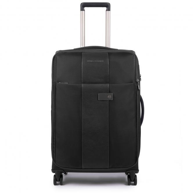 Trolley M 4w erweiterbar mit herausnehmbarer Kleiderhülle und CONNEQU-Tasche black