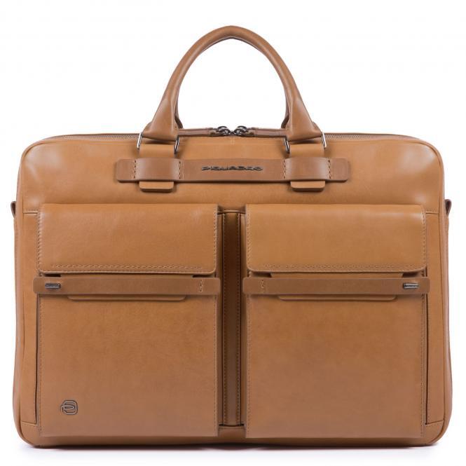 Fast-Check Kurzgrifflaptoptasche mit iPad®10,5''/15,6 Zoll-Fach lohfarben