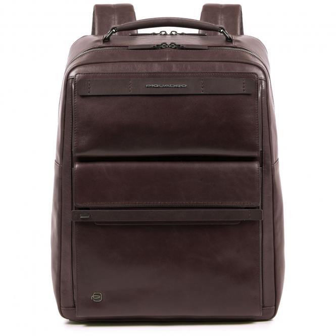 Großer Fast Check Laptoprucksack mit iPad®10,5''/15,6 Zoll-Fach dunkelbraun