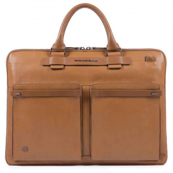 Kurzgrifflaptoptasche mit iPad®10,5''/15,6 Zoll-Fach lohfarben