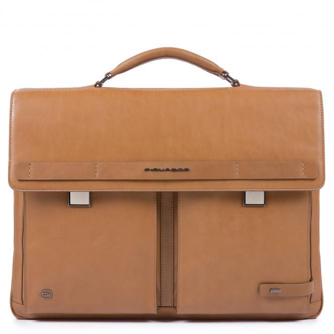 Laptoptasche mit zwei Verschlüssen und iPad®10,5''/15,6 Zoll-Fach lohfarben