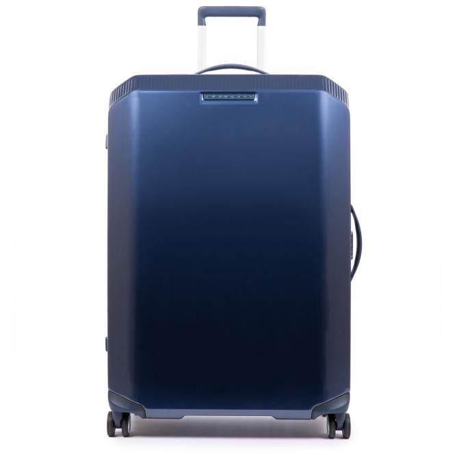 Trolley L 4w mit Anti-Schock-Rollen und CONNEQU-Tasche Blue