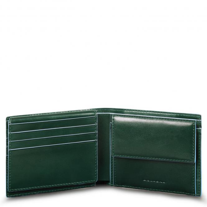 Herrenbrieftasche mit Klapp-Ausweisfenster forest green