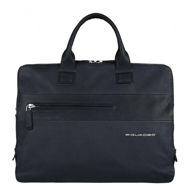 Doppelgriff-Laptoptasche mit drei Einsteckfächern midnight blue