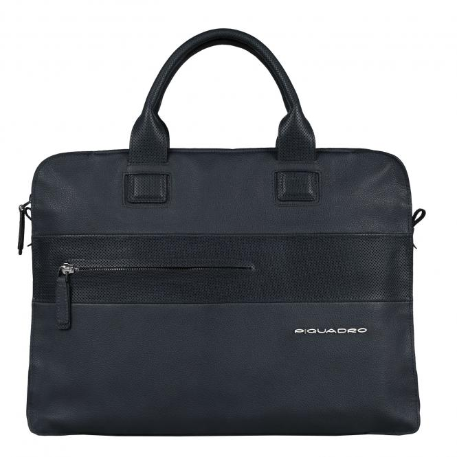 Doppelgriff-Laptoptasche mit Fächerfach midnight blue